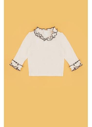 BG Baby Kız Bebek Ekru T-Shirt 20Fw0Bg2533 Ekru